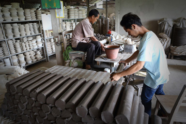 Production of celadon